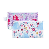 Bumkins: Reusable Snack Bag, Small 2-Pack (Princess) - Fancy Tot