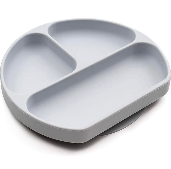 Bumkins: Silicone Grip Dish (Gray)