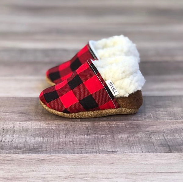 TBMS: Low Tops (Buffalo Plaid & Tan) (0-3 Months)