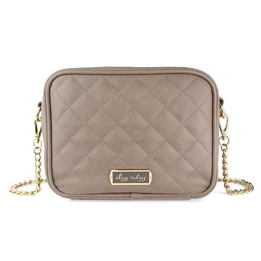 "Itzy Ritzy: Diaper Bags ""The Double Take"" Crossbody (Taupe)"