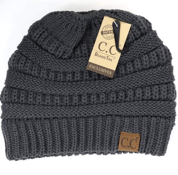 CC Beanie: Solid Classic Beanie Tail (Adult) (Dark Grey) - Fancy Tot