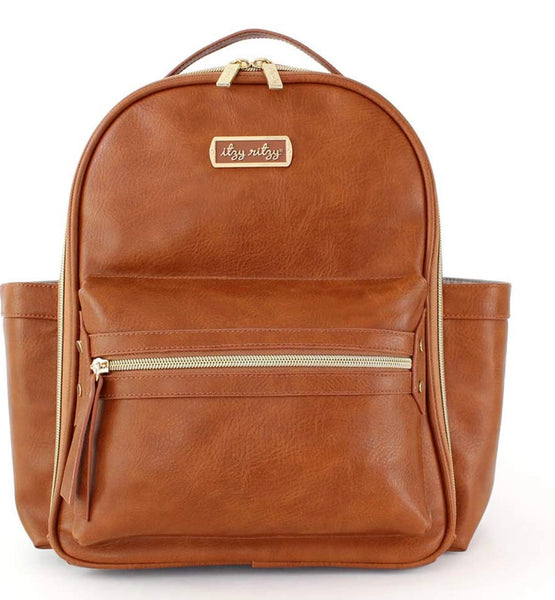 Itzy Ritzy: Mini Diaper Backpack (Cognac)