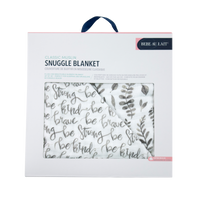 Bebe au Lait: Snuggle Blanket (Just Be + Leaves)