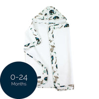 Bebe au Lait: Hooded Towel (0-24 Mo) (Space) - Fancy Tot