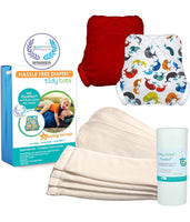Tidy Tots: 4 Diaper Essential Set (Whales & Red)