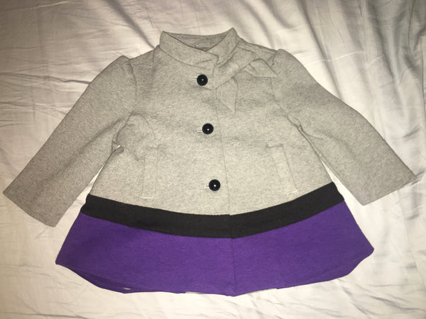 Janie & Jack Jacket (Grey & Purple)