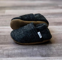 TBMS: Felt Loafers (Charcoal) (9-12 Months) - Fancy Tot