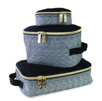Itzy Ritzy: Packing Cubes (Coffee & Cream) - Fancy Tot