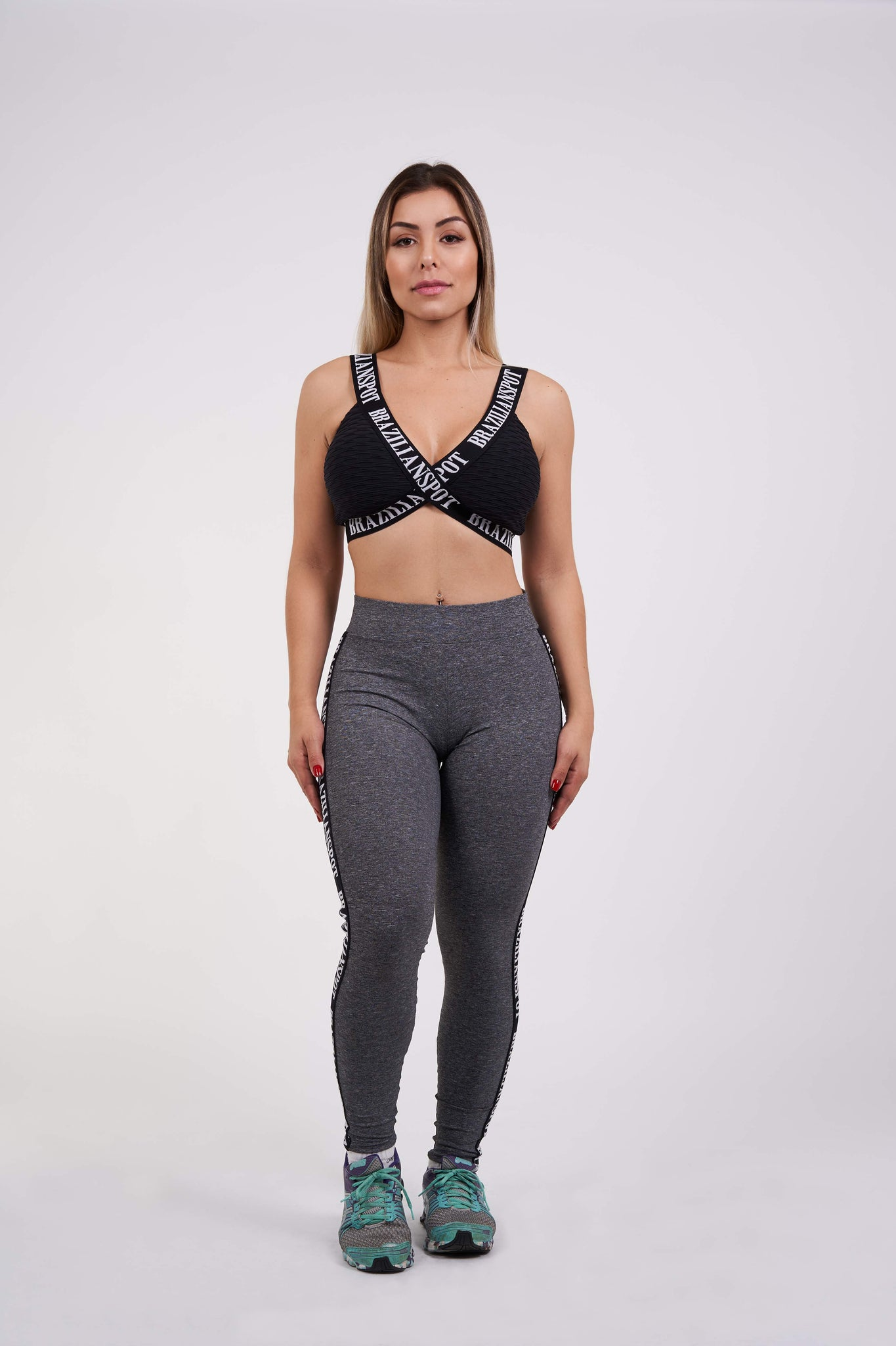 Brazilian Bae Legging - Grey