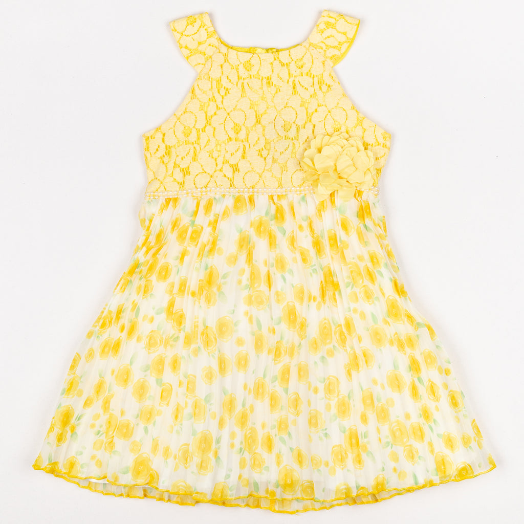 APJG7161 Yellow Lace Dress