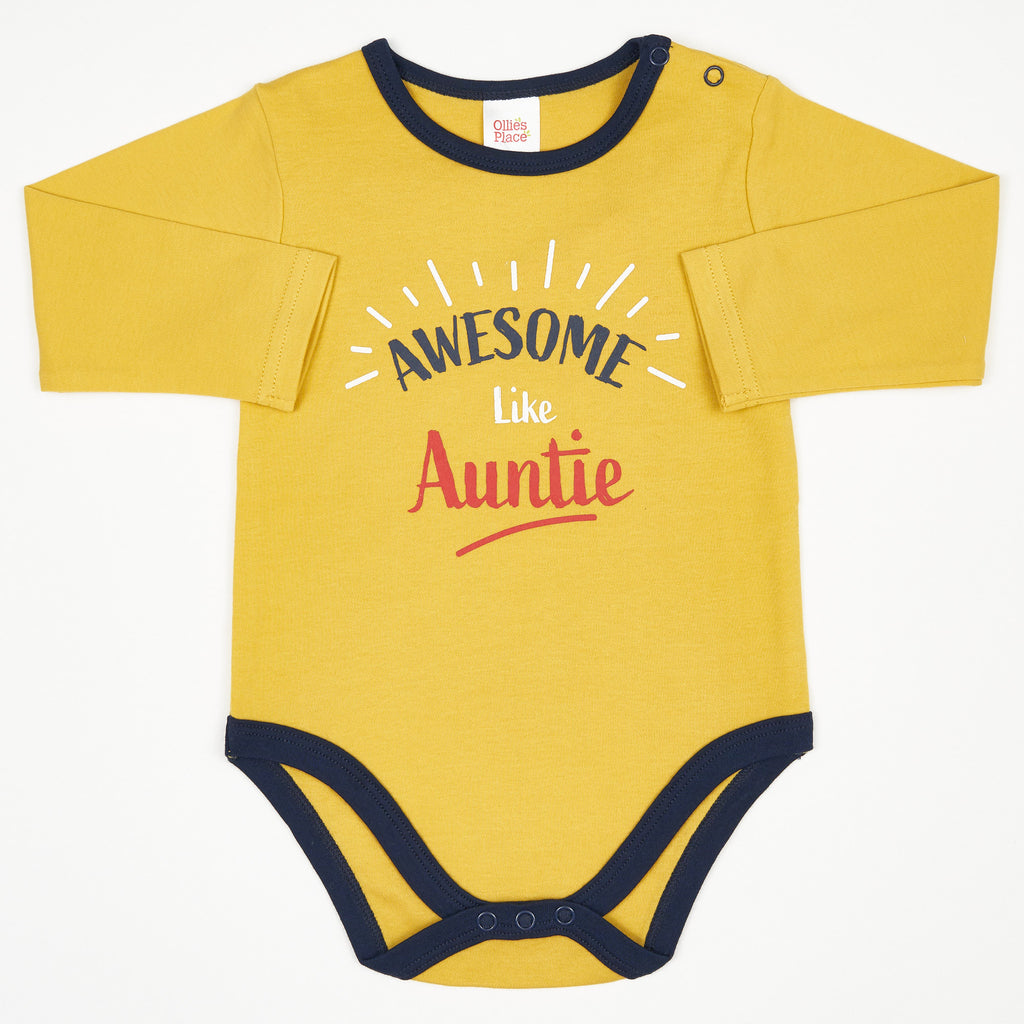 BPBB1235 Awesome Like Auntie' Onesie Bodysuit