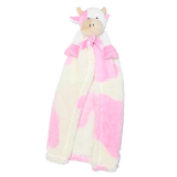 Cuddle Blanket Toy Pink and Cream Cow