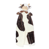 Cuddle Blanket Chocolate and Cream Toy Cow