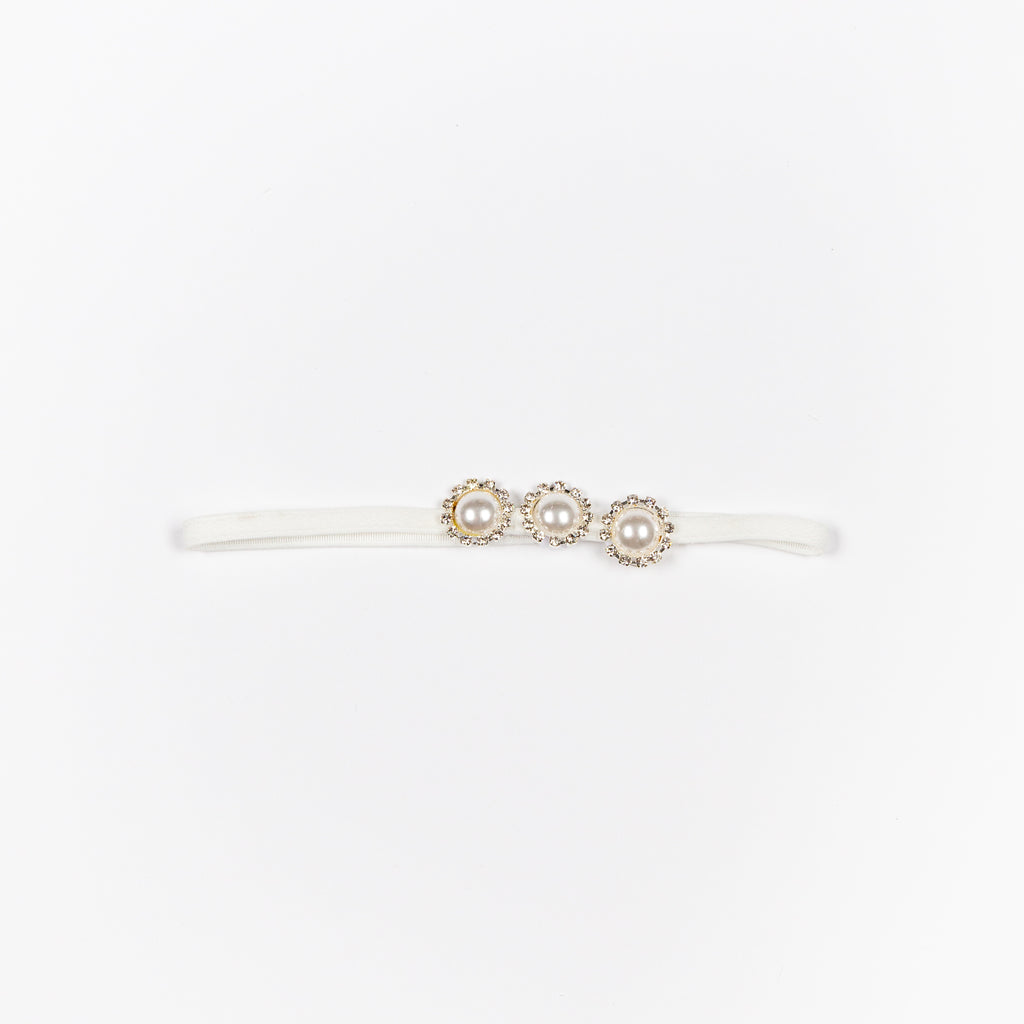 GDFXHB82 Diamante Pearl Thin Headband