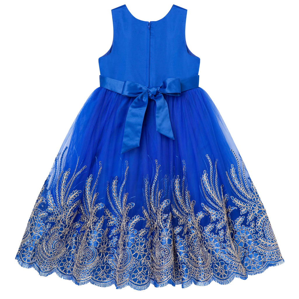 oyal Blue & Gold Party Dress 3-5