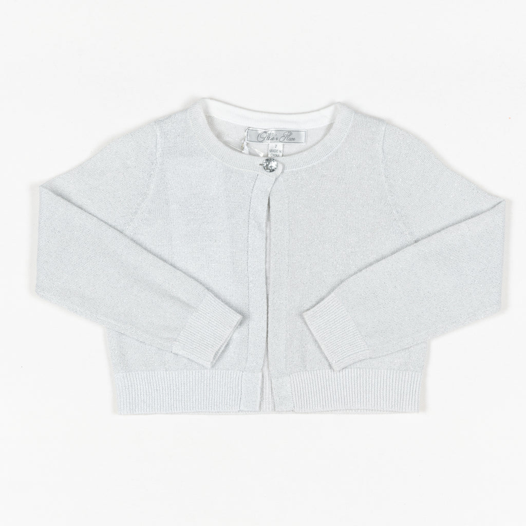 GDXLFM03 Silver Lurex Formal Cardigan