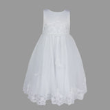 GDXXFM20 Formal Dress In White With Lace And Pearl Beading 6-12
