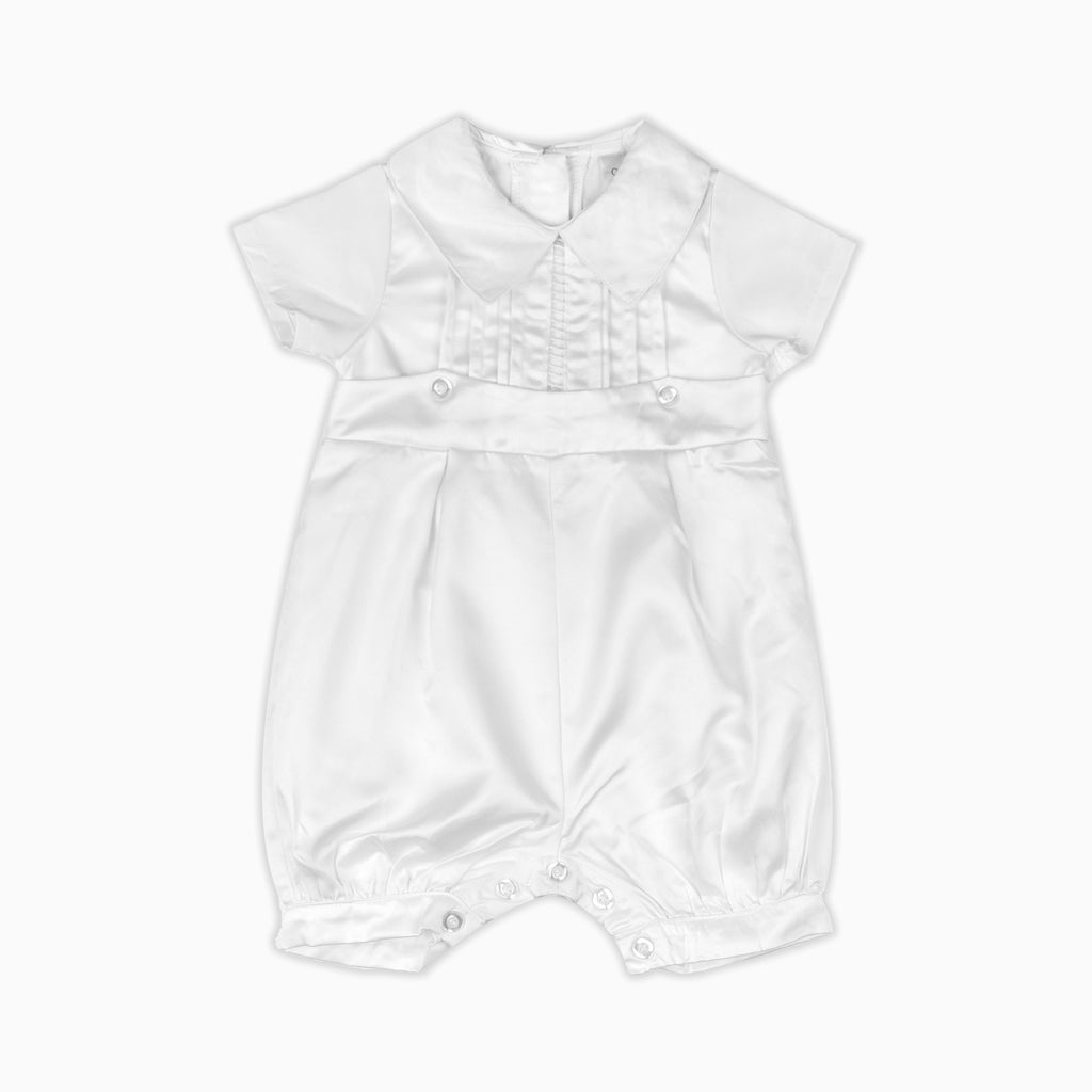 Baby Boys Christening Romper Suit