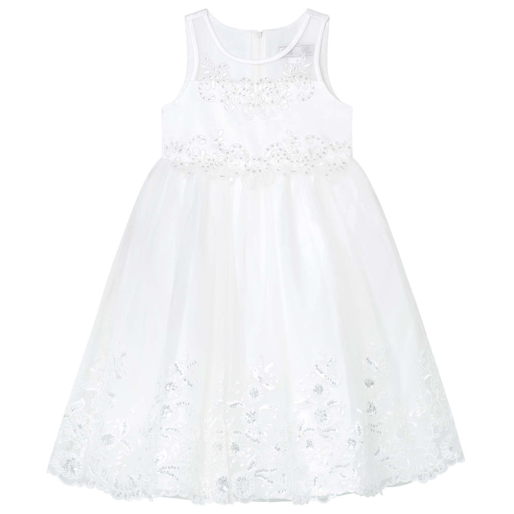 GDXXFM59 Ivory Embroidered Sequin Dress