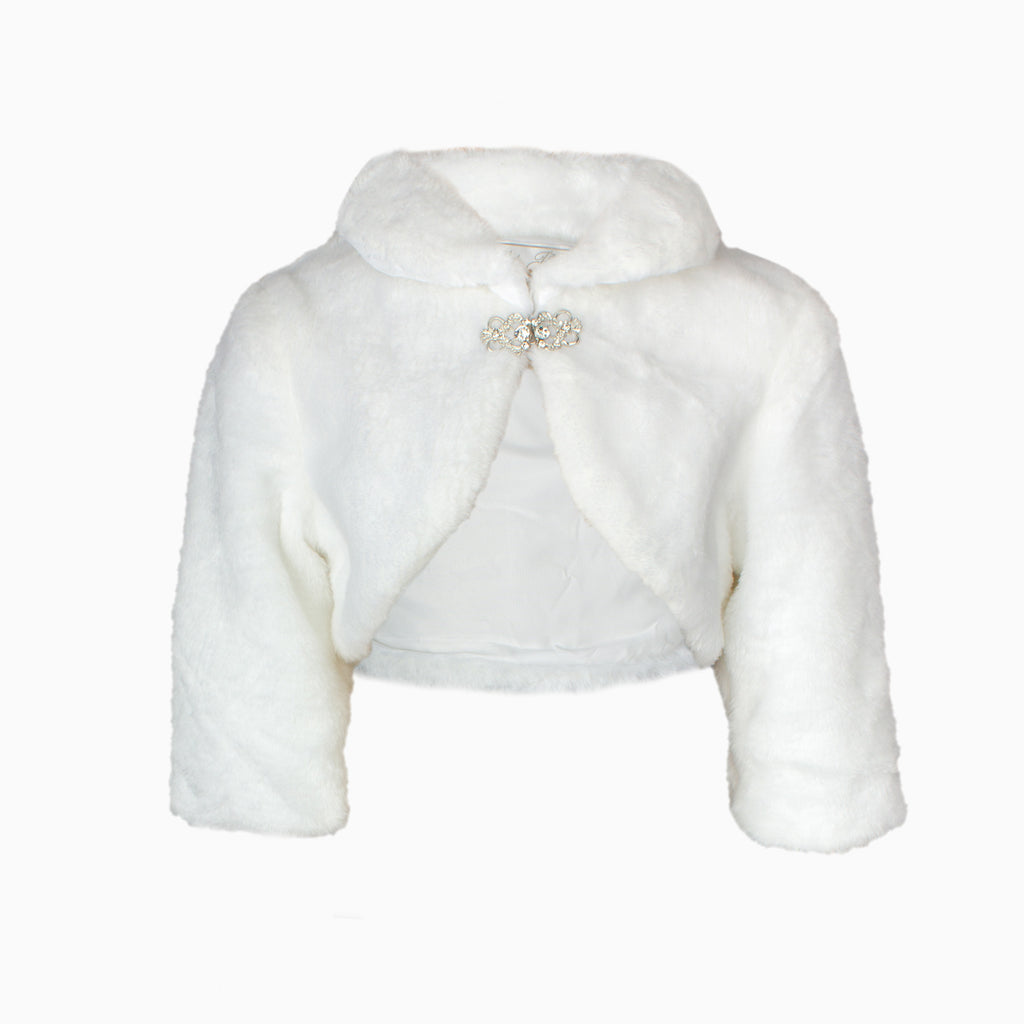 White Faux Fur Stole