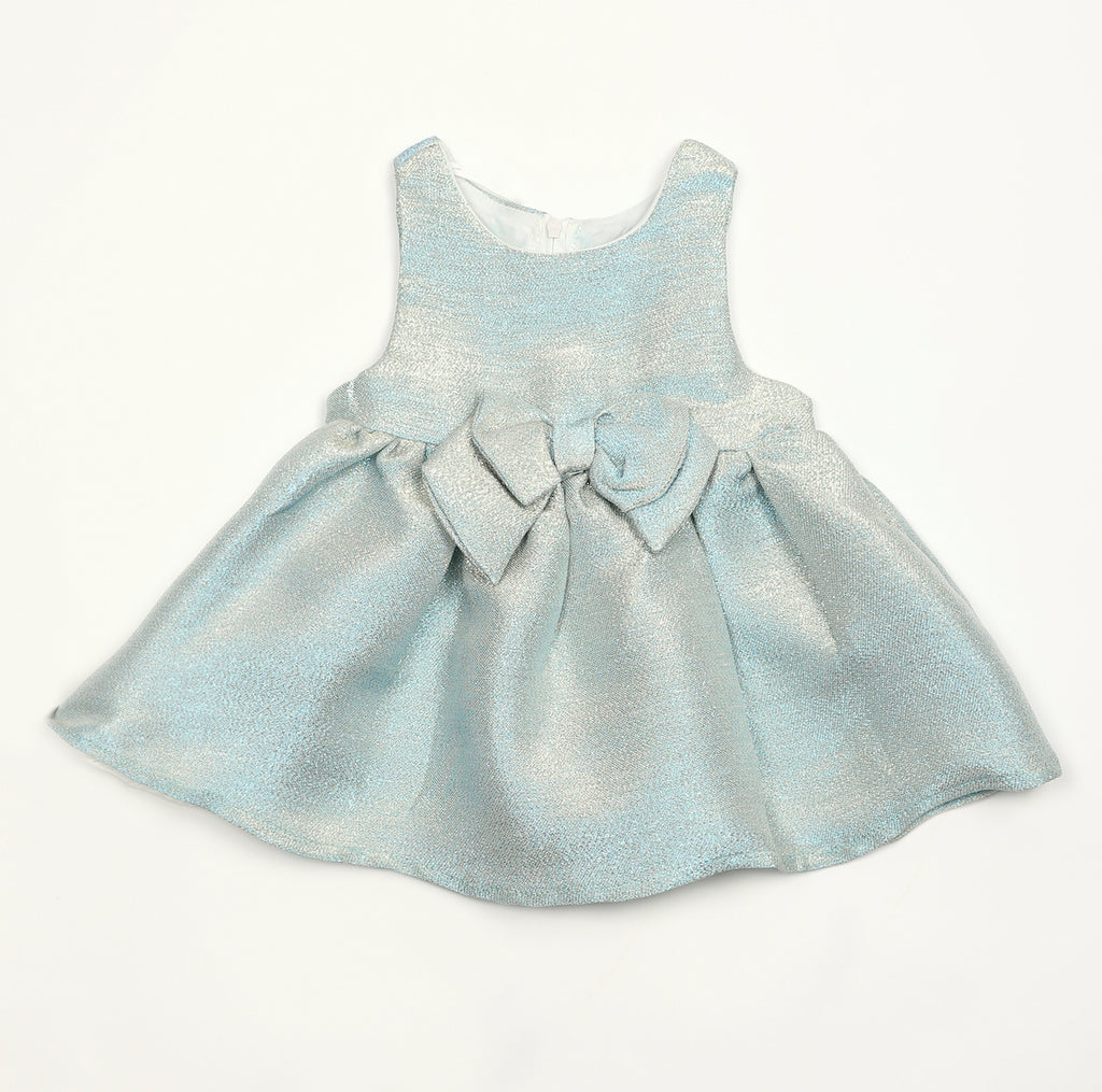 HZODR23  Jacquard Metal Blue / Aqua  Dress