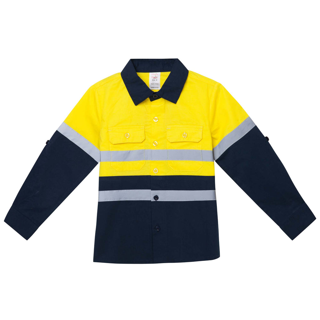 TRADIE WORK HI VIS SHIRT YELLOW