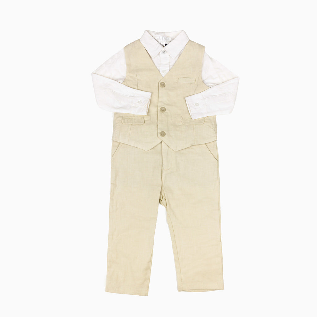 Beach Linen 3 Piece Suit