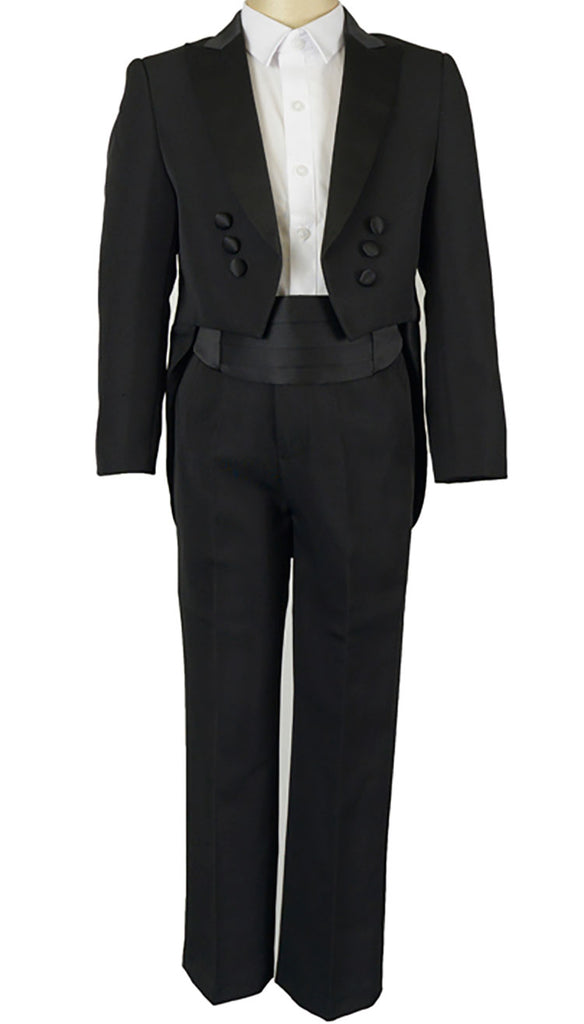 Formal Boys Tuxedo Tails Suit 2-5Y