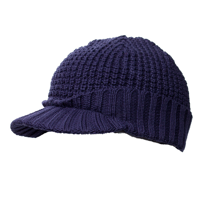 NSJB6143 Navy Knit Cap Hat