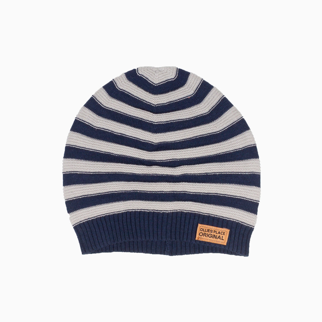 PSBB1174 Construction Navy & Grey Marle True Knit Beanie