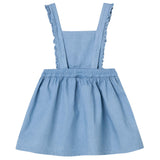 WSIG5225 Chambray Pinafore Dress