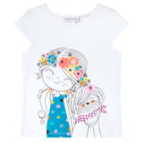 GIRL AND DOG PRINT TEE