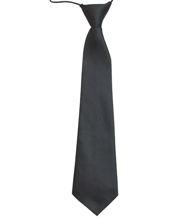 Tie Satin Charcoal Black