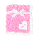 ROSE FUR BLANKET PINK