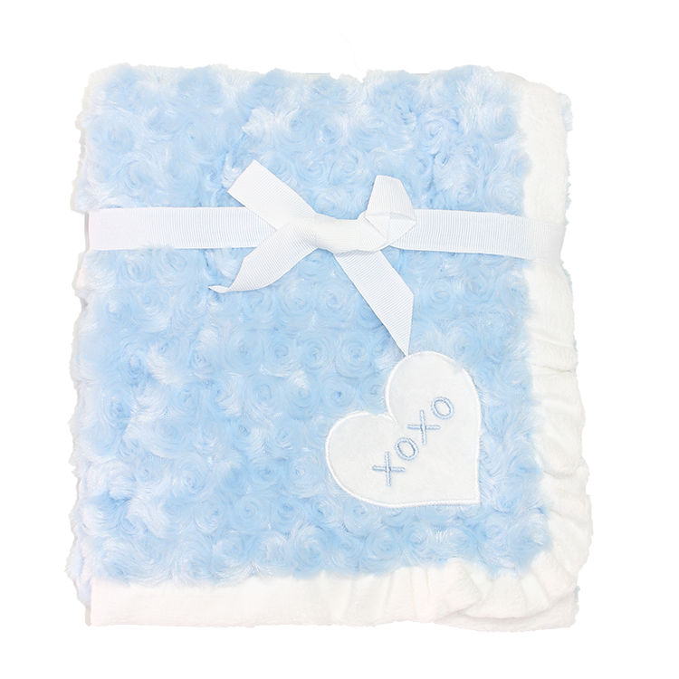 ROSE FUR BLANKET BLUE