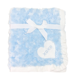 ESBU0302 Rose Fur Blanket Blue
