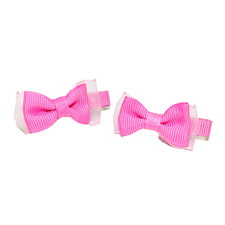 Hair Clip Hot Pink Bow