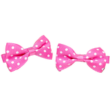 Hair Clip Pink and White Bow