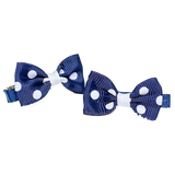 Hair Clip Navy and White Bow