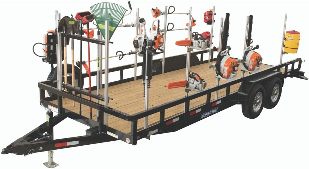 landscape trailer with trailer racks