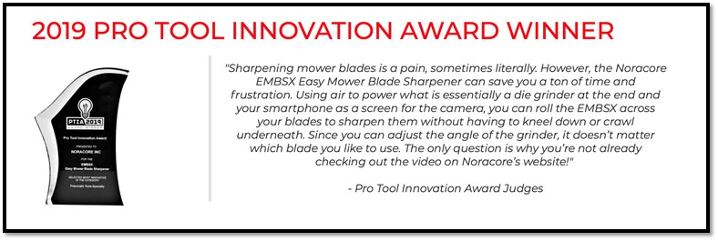Noracore EMBSX Pro Tool Innovation Award Banner