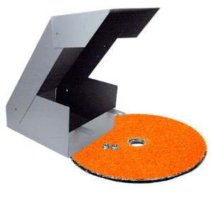 Grit collector and grinding disc for RBG 712 and RBG 934 lawn mower blade sharpeners