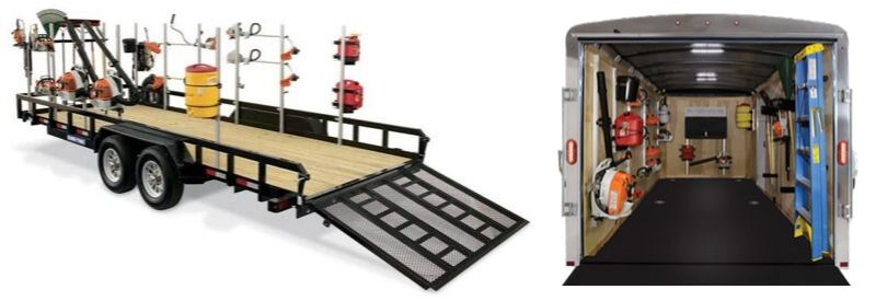 Trailer Racks for Open or Enclosed Trailers