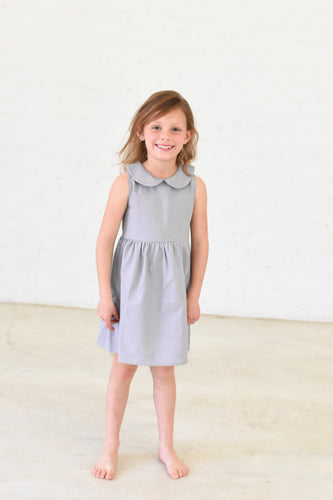 Girls Sleeveless Collar