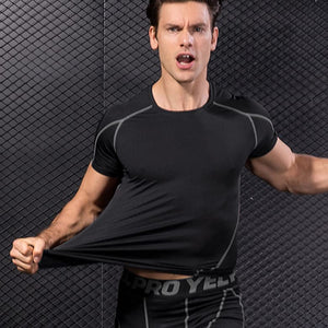 Men's Compression Base Layer Top Gym Shirt