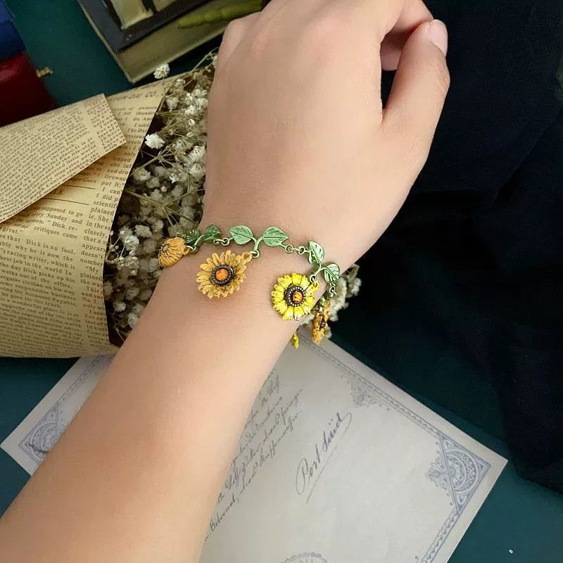 Buy 2 Get 1 Free>>You Are My Sunshine Sunflower Bracelet
