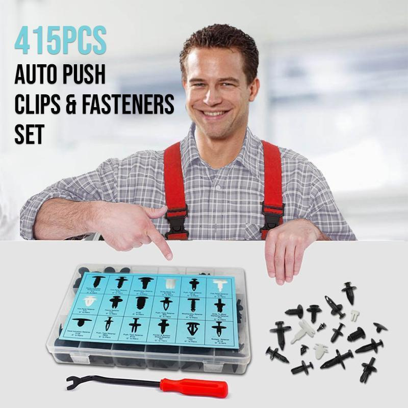 Made in Japan>>Auto Push Clips & Fasteners Set (415 Pcs)