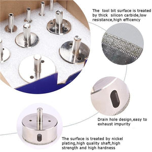 50% Off Glass Tile Marble Hole Drilling Bit Set (10PCS)