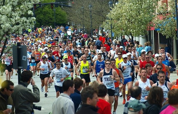 Website go-live is like running a marathon - Boston Marathon CC image by Peter Farlow 2010