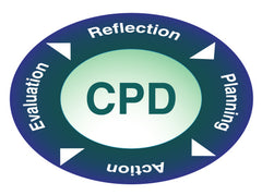 CPD cycle: Planning, Action, Evaluation, Reflection.